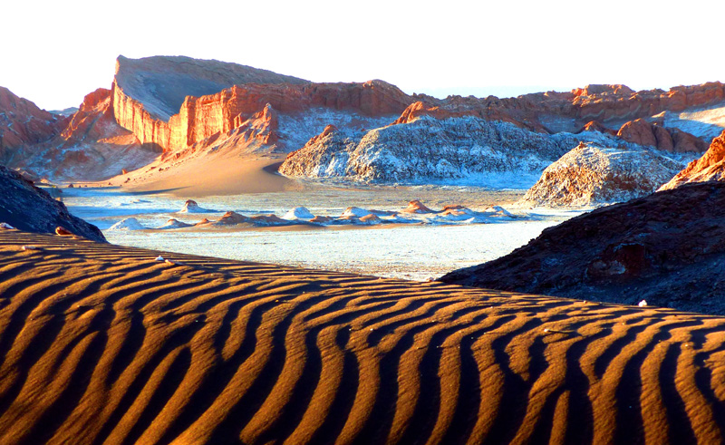 chile atacama moon valley is
