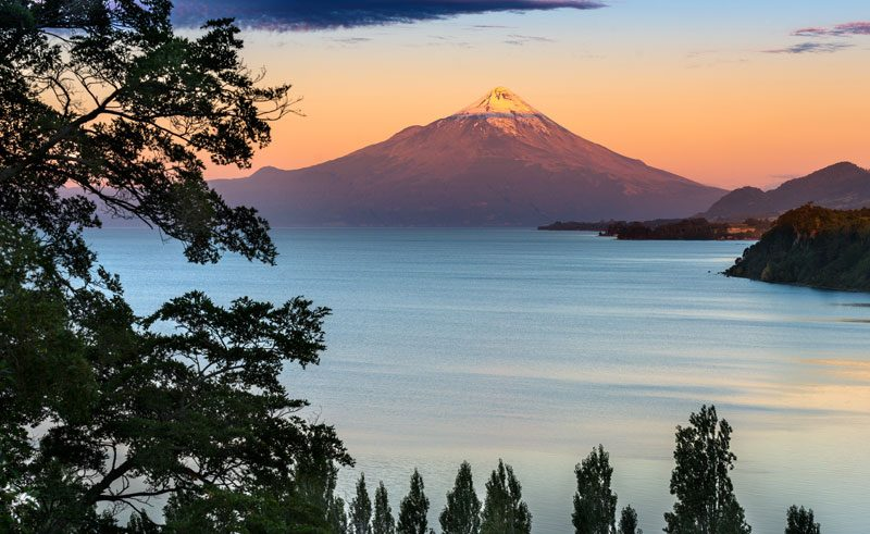chile lake district osorno at dusk istk