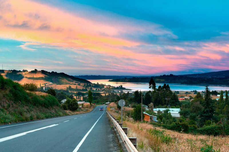 chile lake district road to dalcahue shutterstk