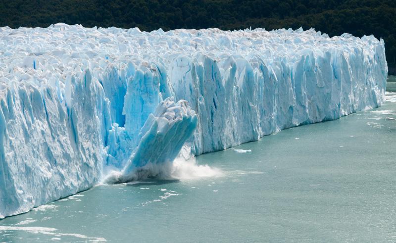 chile patagonia calving glacier is