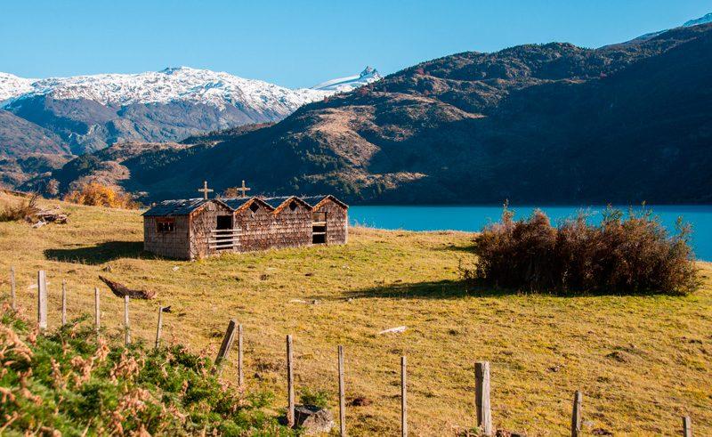 chile patagonia carretera austral exploradores abandoned church as