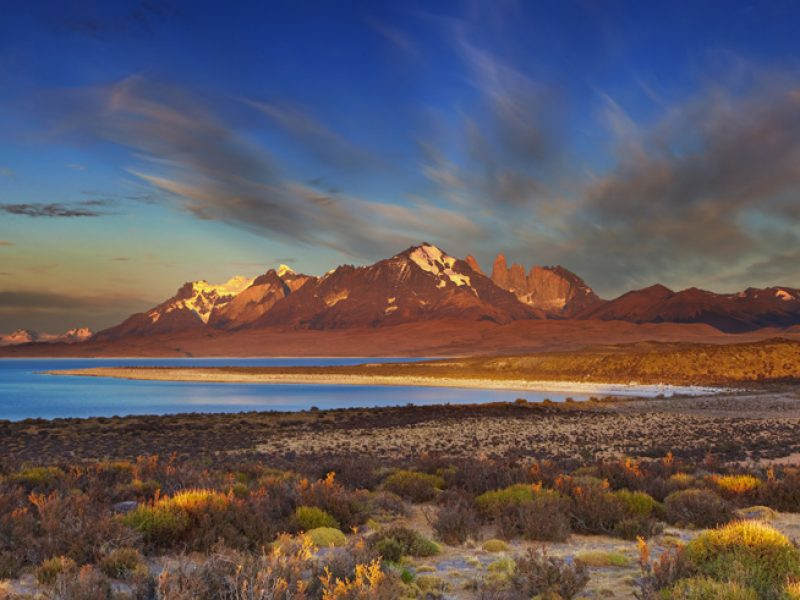chile patagonia sarmiento lake as