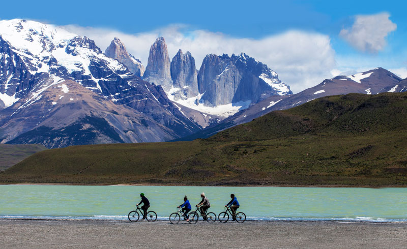 chile patagonia torres del paine cycling cas