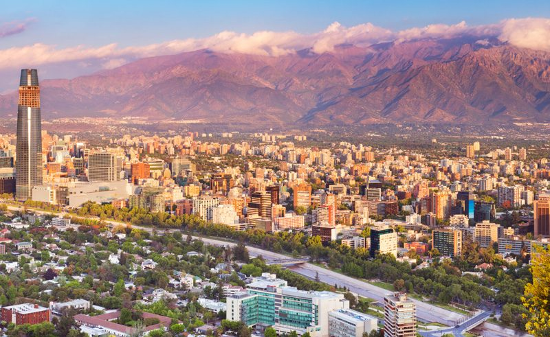 chile santiago skyline is