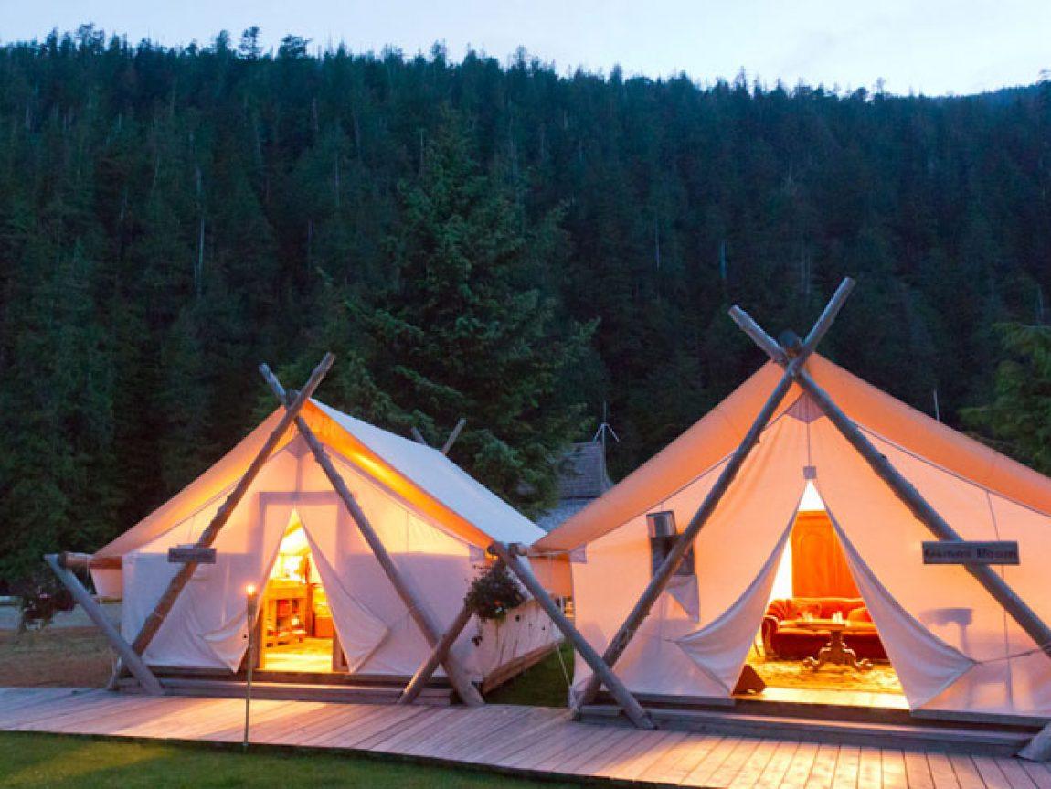 clayoquot common tents night