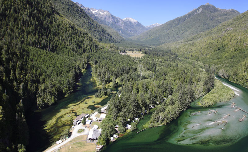 clayoquot wilderness resort aerial view