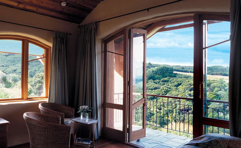 earthsong lodge bedroom view