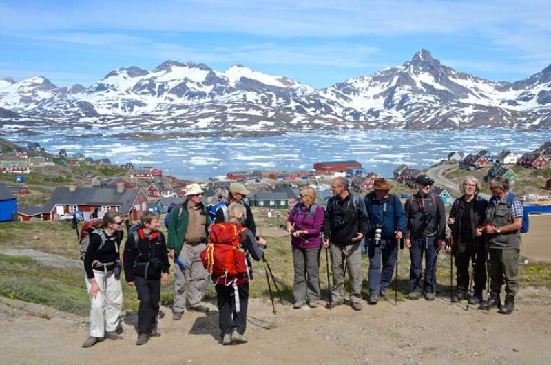 east greenland hiking group