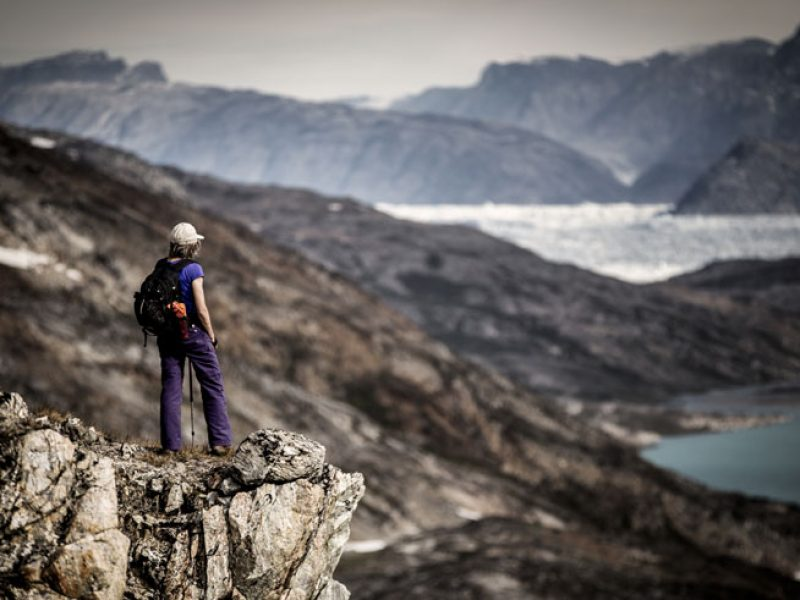 east greenland ice fjord hiker vg