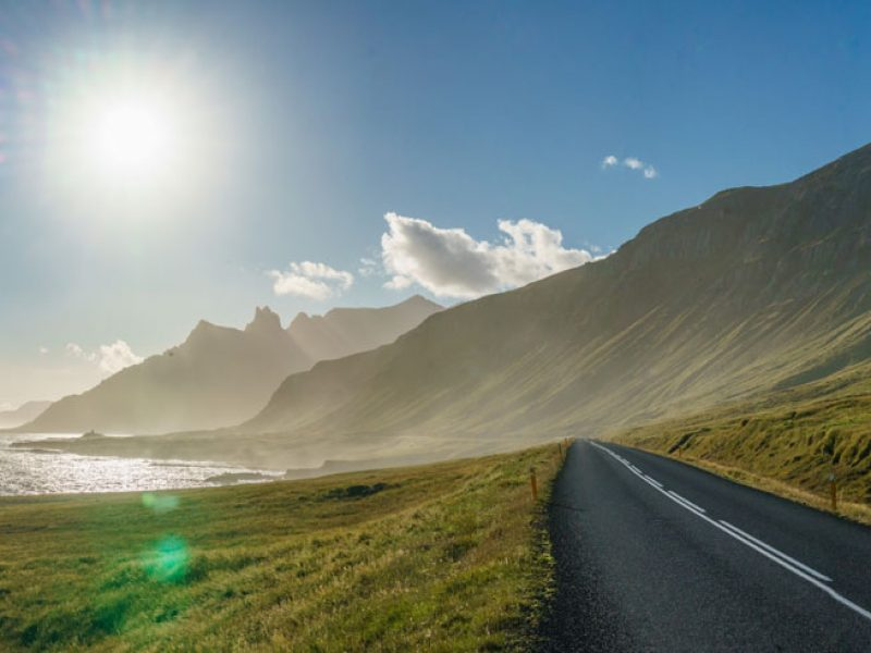 east iceland coast road and mountains rth