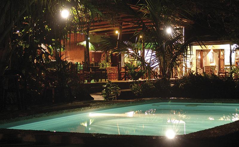 easter island manavai pool night