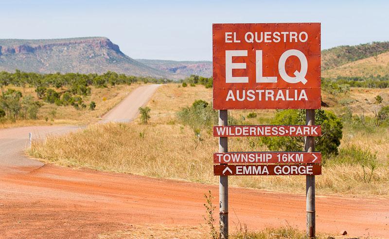 el questro wilderness park sign