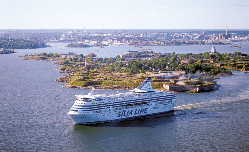 finland ferry silja symphony at sea helsinki