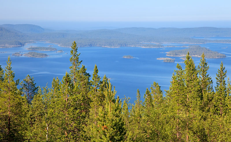finland fin lapland lake inari is
