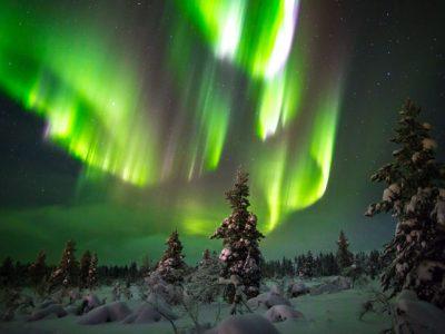 finland lapland aurora saariselka region istk