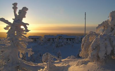 finland lapland iso syote cottages winter