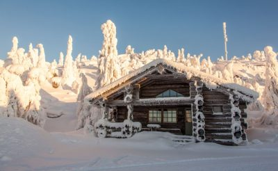 finland lapland iso syote kelo cottage winter