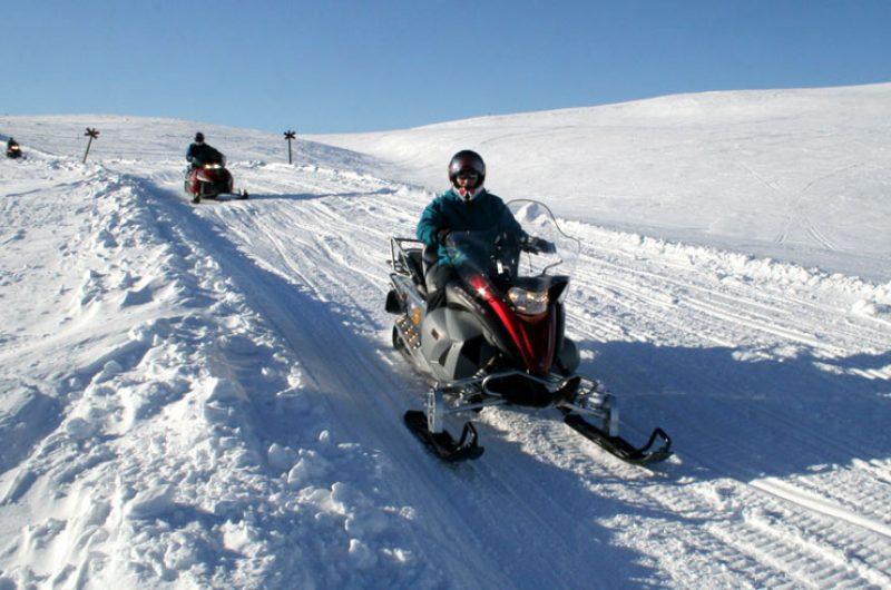 finland lapland lainio snowmobiling