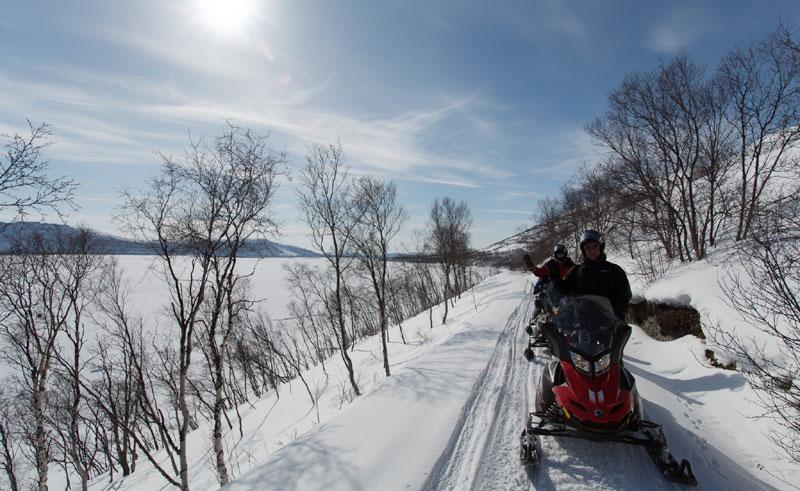 finland lapland muotka snowmobiling