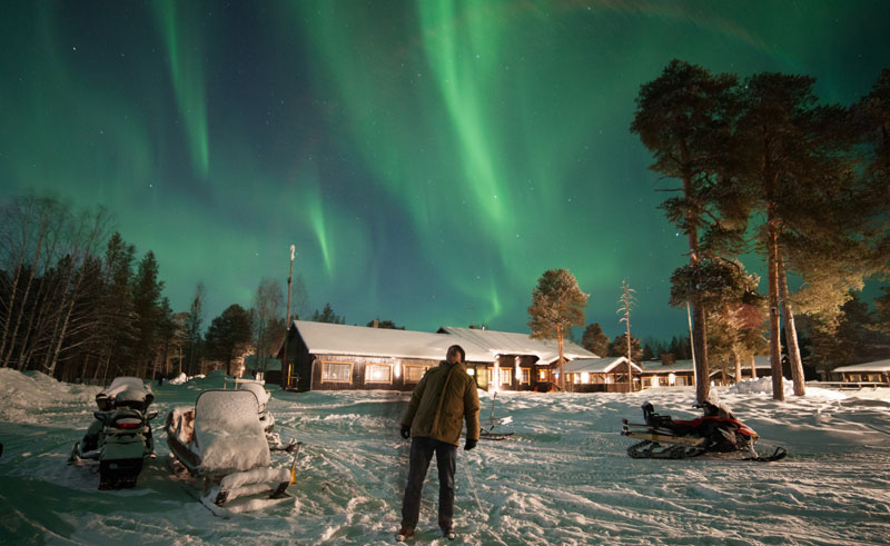 finland lapland nellim aurora borealis