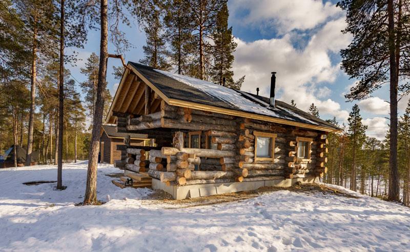 finland lapland nellim log cabin rth