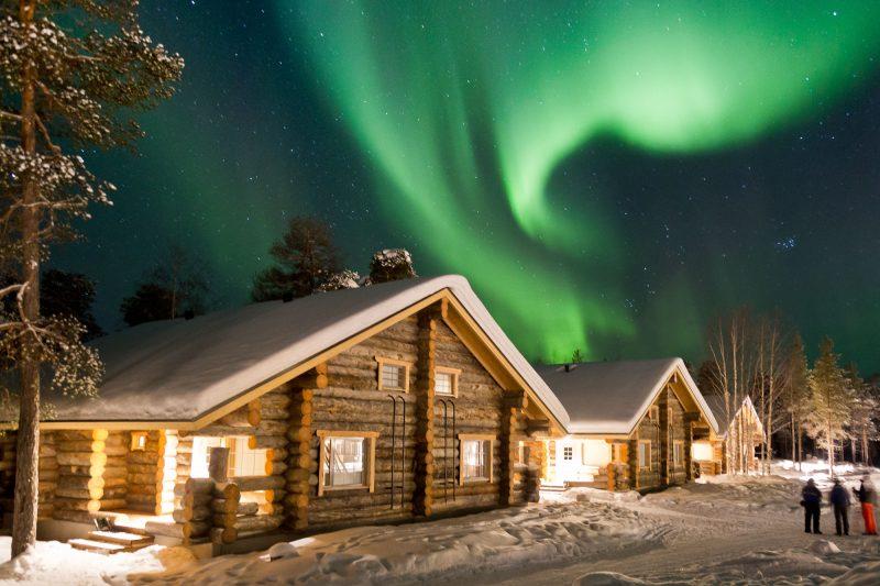 finland lapland northern lights over nellim 1