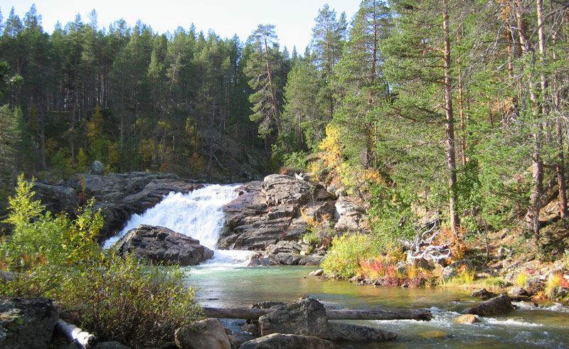 finland lapland ravadas falls lemmenjoki korpikartano