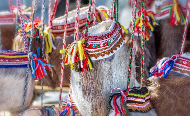 finland traditional sami handicraft bag istk