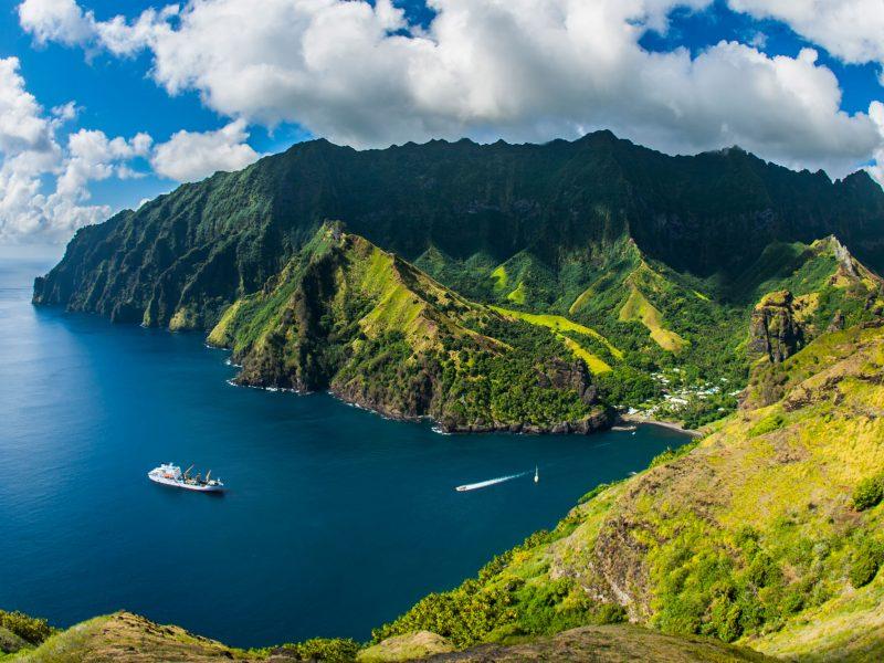 french polynesia marquesas bay view aran