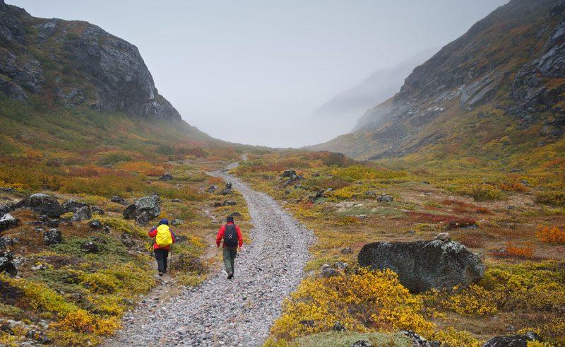 greenland south narsarsuaq hiking mist vg