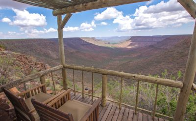 grootberg lodge bedroom balcony view
