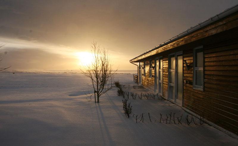 hotel eldhestar exterior winter