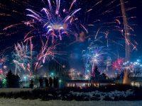 iceland capital region reykjavik fireworks blue rth