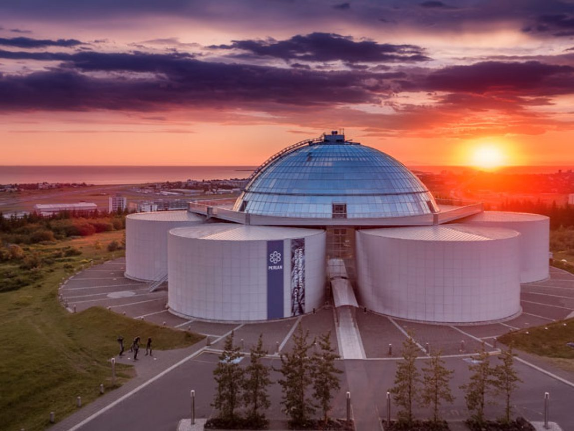 iceland capital region reykjavik perlan sunset rth