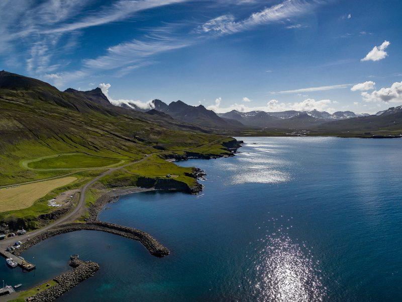 iceland east fjords borgarfjordur eystri view rth