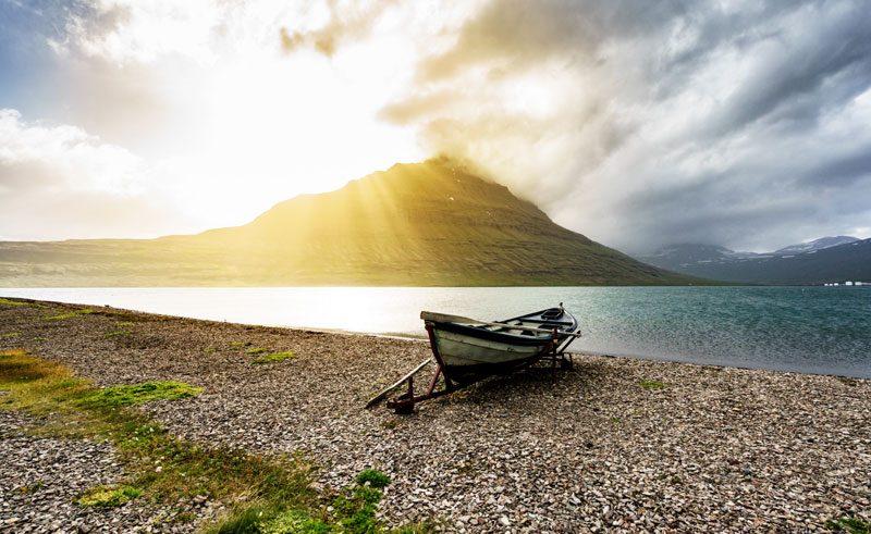 iceland east fjords eskifjordur sunlight rth