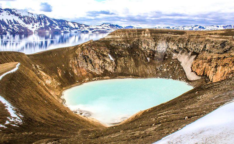 iceland highlands askja and viti crater st
