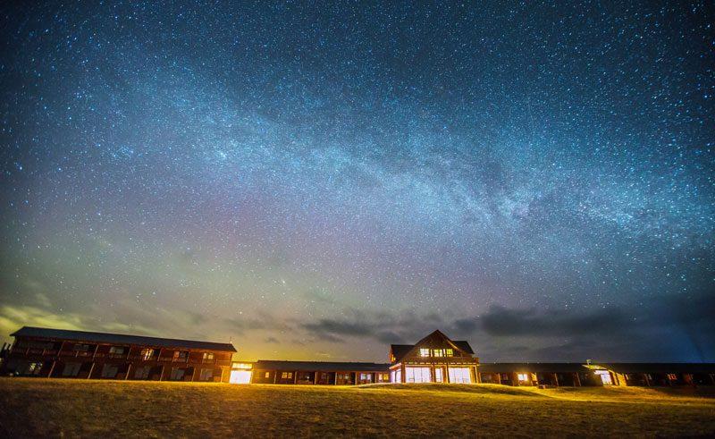 iceland hotel ranga starlit night