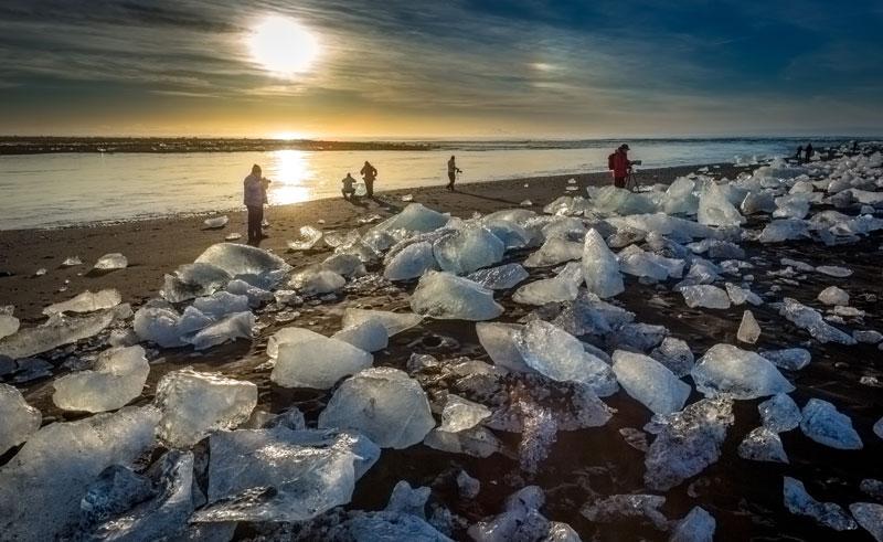 iceland jokulsarlon midnight sun rth