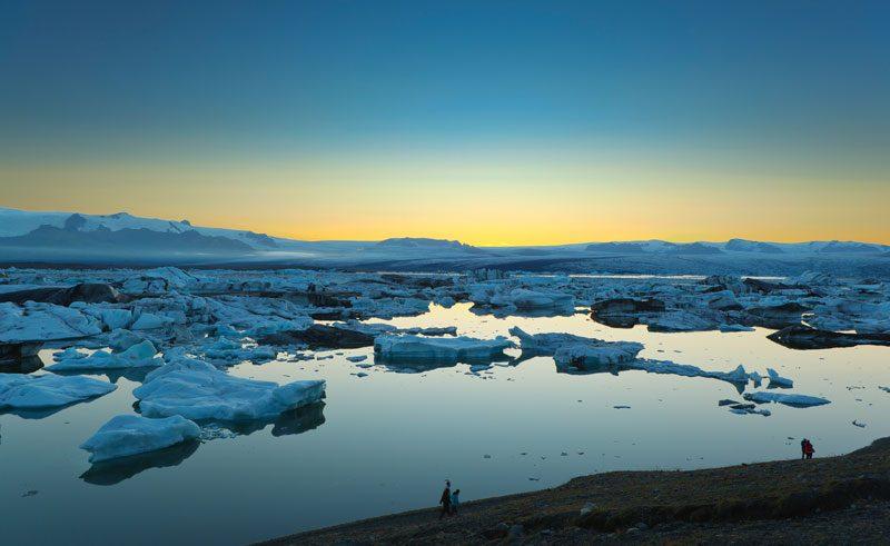 iceland jokulsarlon sunset rth