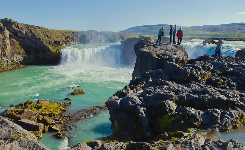iceland north east godafoss viewpoint do