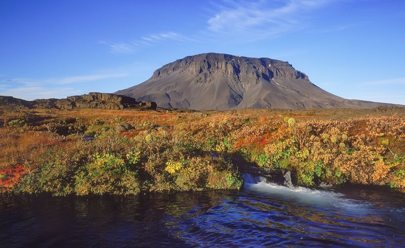 iceland north east mt herdubreid autumn rth