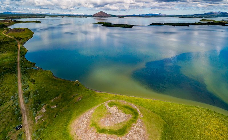 iceland north east myvatn crater rth