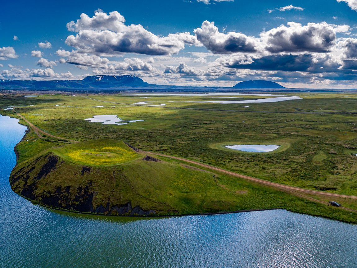 iceland north east myvatn pseudocrater view rth
