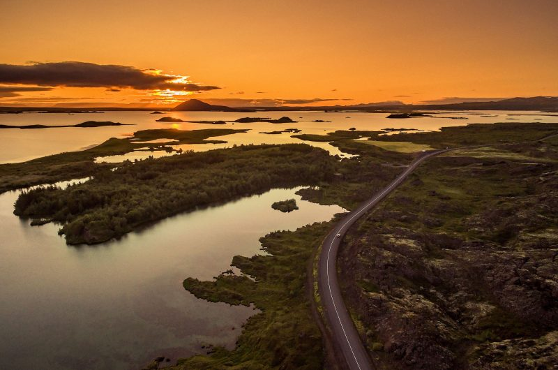 iceland north east myvatn sunset rth
