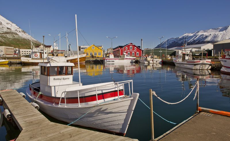 iceland north siglufjordur harbour rth