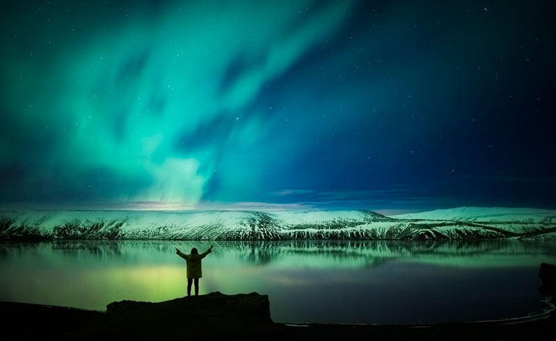 iceland reykjanes peninsula northern lights rth