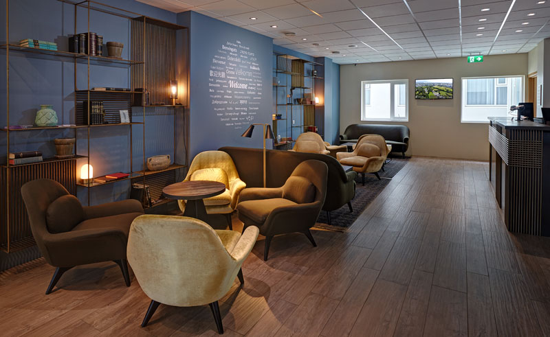 iceland reykjavik hotel klettur reception