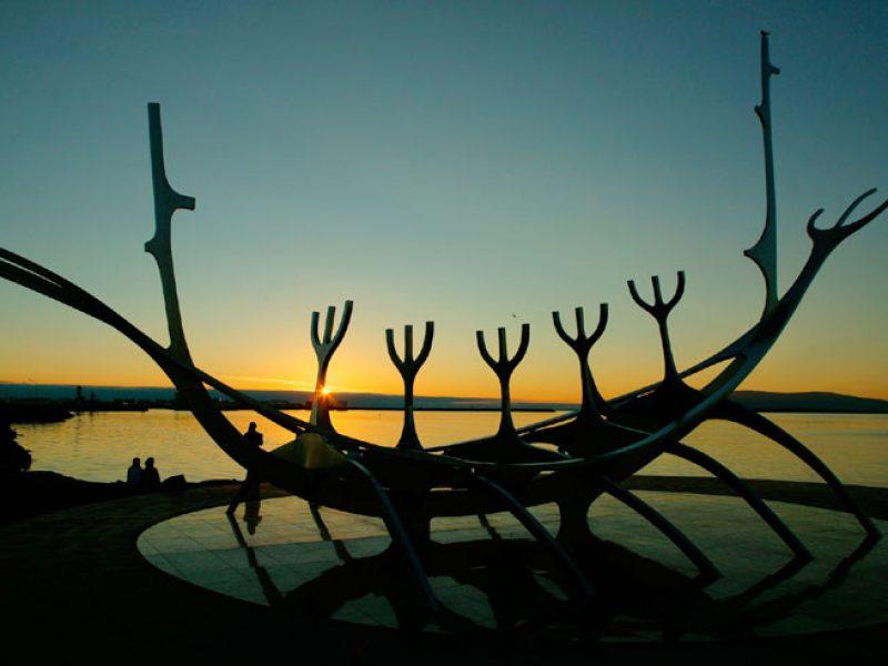 iceland reykjavik sculpture twilight rth