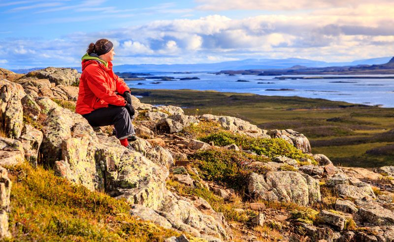 iceland snaefellsnes helgafell hiker view do